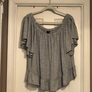Lane Bryant Gray Shirt SZ 22/24